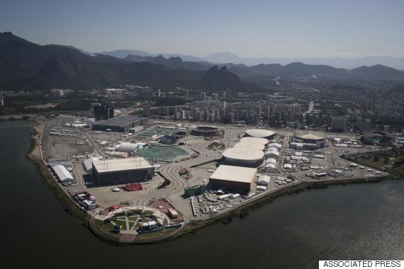 olympic park in rio de janeiro aerial