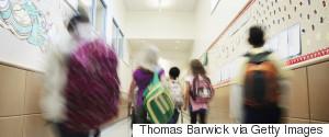 GIRL AND BOY HALLWAY SCHOOL