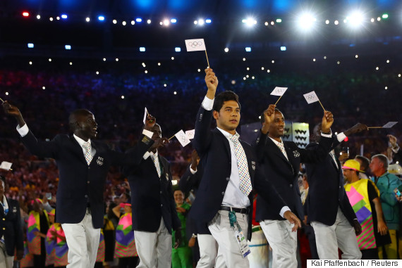 team refugee olympic opening
