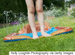 Edmonton Girl's Leg Split Open By Makeshift Water Slide