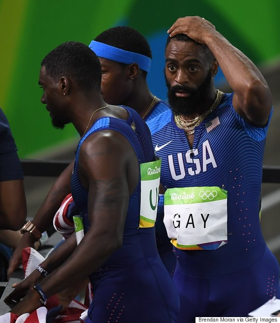tyson gay reaction