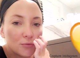 Kate Hudson se laisse maquiller par son fils et...