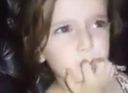 شاهد.. طفلة سورية توقف