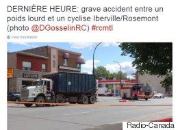 Une cycliste perd la vie après une collision avec un camion à Montréal