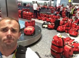 Les athlètes britanniques olympiques ont dû s'amuser pour retrouver leurs bagages