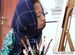 Paralyzed Afghan Artist Dreams Of Canadian Exhibition