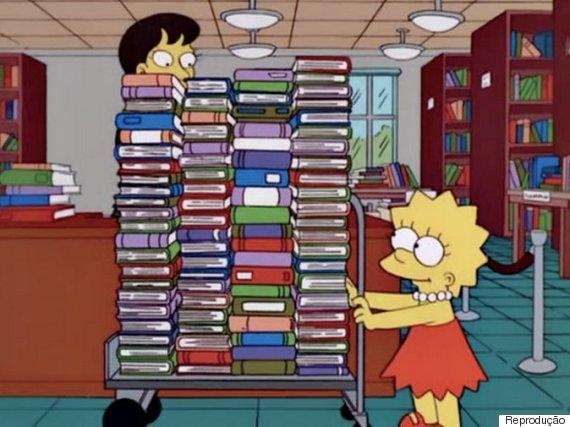 lisa simpson livros