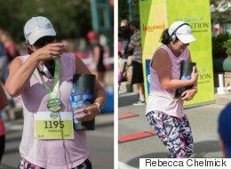 Edmonton Runner Carries Mom Across The Finish Line
