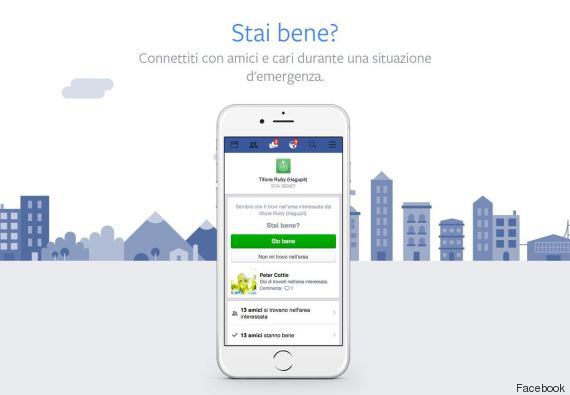Facebook attiva il Safety Check: