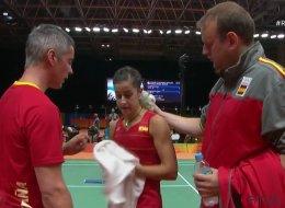 Carolina Marín explica el porqué del 'zasca' a su entrenador
