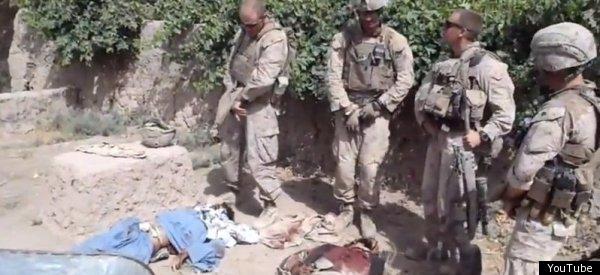 Marines urinating on taliban