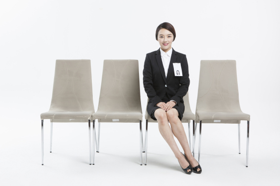 woman in a employment interview