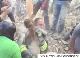 Girl Pulled From Quake Rubble Was Trapped Upside Down For 17 Hours