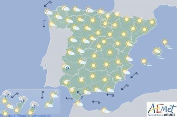 mapa del tiempo viernes 26 agosto