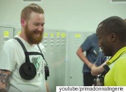 브래지어 회사의 남자직원들이 '가슴의 무게'를 경험했다(동영상)