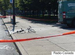 Un cycliste happé au centre-ville de Montréal