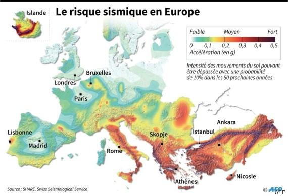 europe séisme