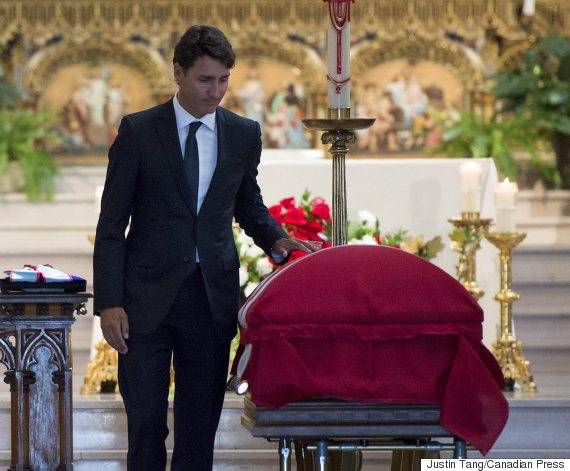 justin trudeau mauril belanger funeral