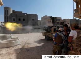 IS 리비아 거점에서 격렬한 전투가 벌어졌다