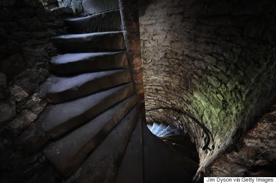 medieval castles stairs