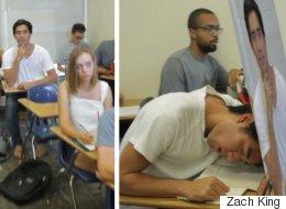 Cet étudiant a trouvé une façon brillante pour dormir en classe (VIDÉO)