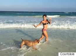 De femme d'affaires à prof de yoga sur la plage