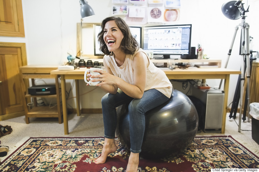 yoga ball desk