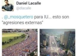 El 'zasca' de IU al economista de cabecera de Aguirre por este tuit sobre Venezuela
