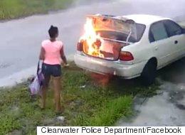 Elle met le feu à la mauvaise voiture en voulant se venger de son ex (VIDÉO)