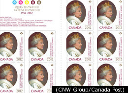 Queen Stamp Canada Diamond Jubilee