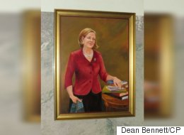 Alison Redford's Portrait Quietly Unveiled In Legislature