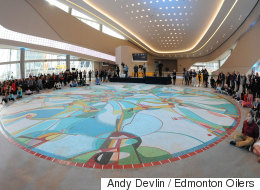 1-Million Tile Mosaic Unveiled At Edmonton's New Arena