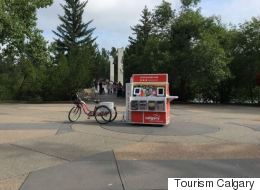 Adorable Pedal-Powered Cart Brings Free Wi-Fi To Calgary Tourists