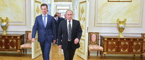BASHAR ALASSAD AND PUTIN