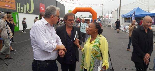 Christiane Taubira en visite surprise à la Fête de l'Huma