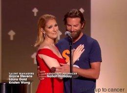 Céline Dion et Bradley Cooper ont partagé ce moment émouvant (VIDÉO)