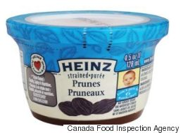 Kraft Canada Recalls Strained Prunes Because Of Rubber