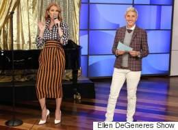 Céline Dion fait tourner les têtes avec sa tenue sur le plateau d'Ellen