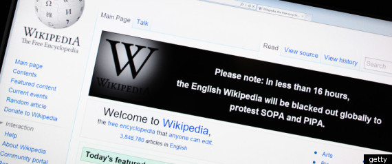 Students Wikipedia Sopa Blackout