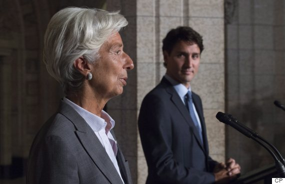 christine lagarde trudeau