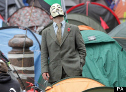 Occupy Mask Protester