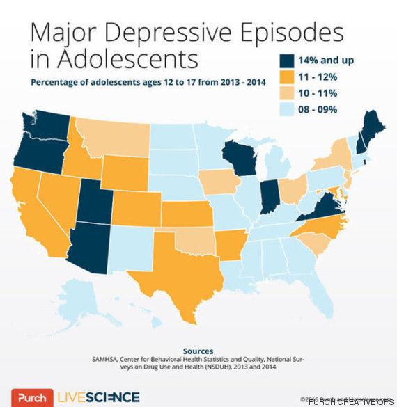 episódios depressivos maiores em adolescentes