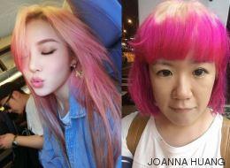 Elle voulait une chevelure rose ombrée et s'est retrouvée avec ceci...