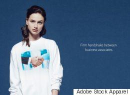 Cette ligne de vêtements se moque à merveille des photos «stock»