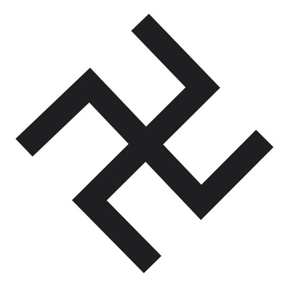 the swastikas