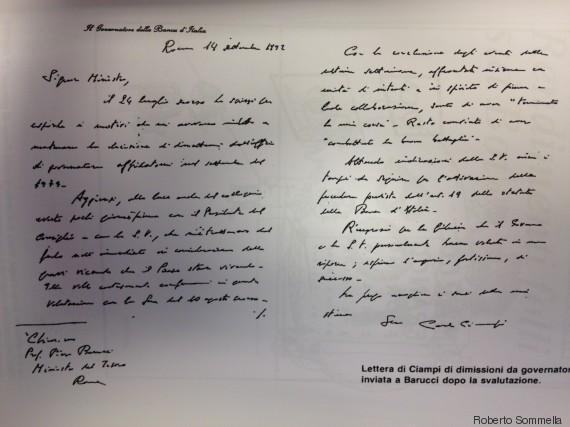 lettera di ciampi