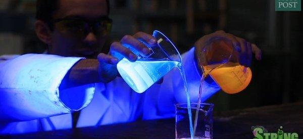 Ces substances réagissent aux ultraviolets pour un résultat hypnotisant