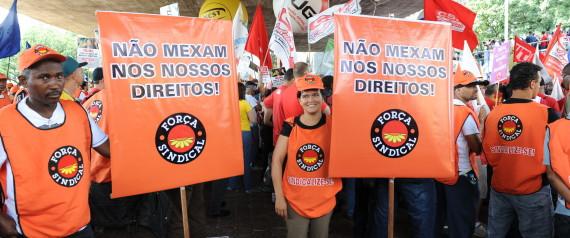 PROTESTO FORCA SINDICAL