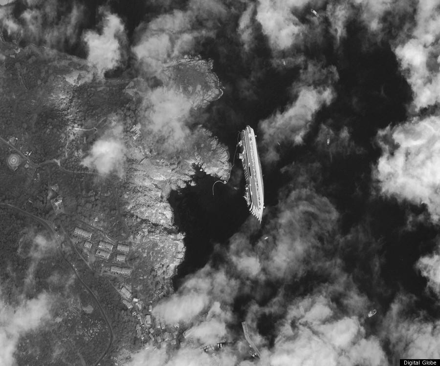 Costa Concordia Satellite Image Shows Shipwreck From Space ...