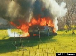 Man Saves Elderly Woman Burning Car